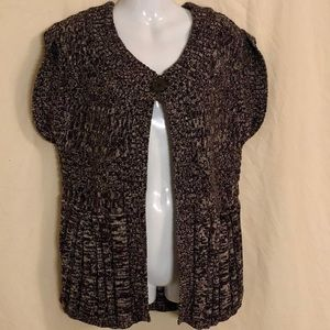 North Crest One Button Tunic Cardigan